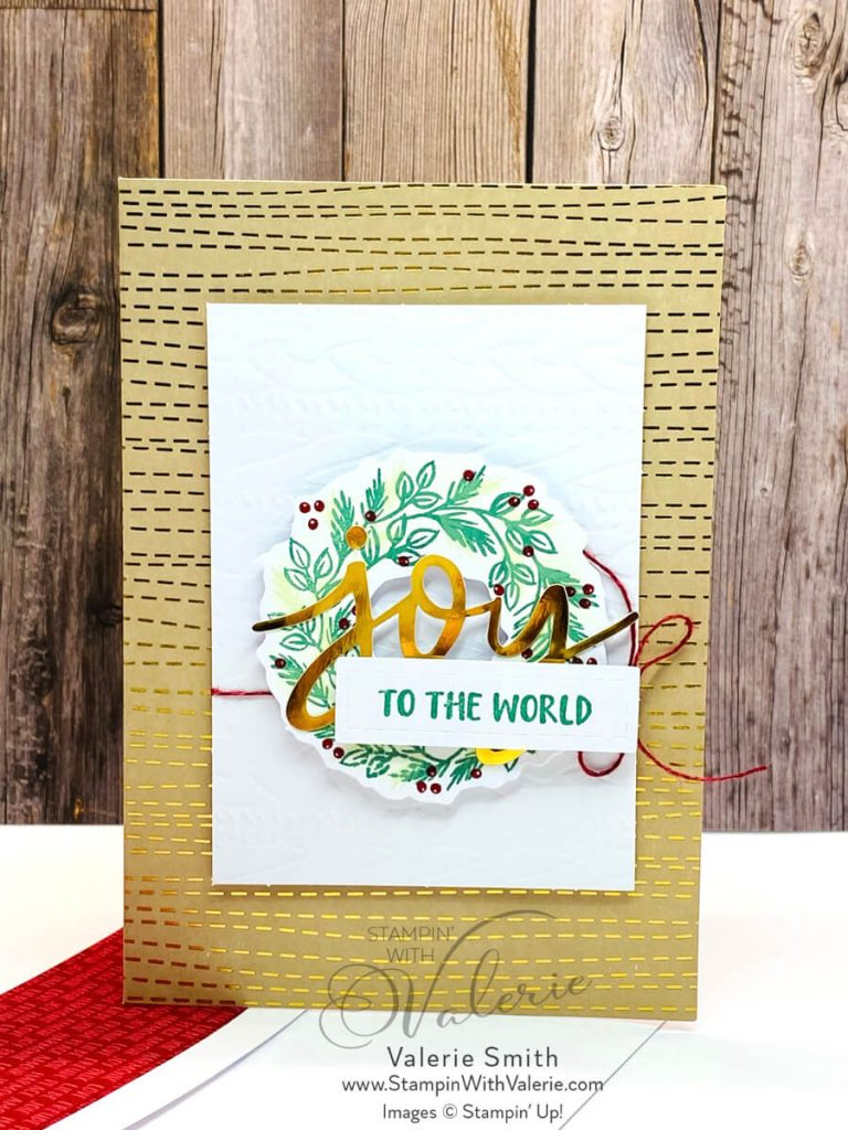 Christmas card with wreath