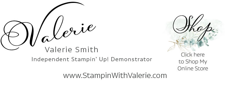 Stampin with Valerie logo and shop link