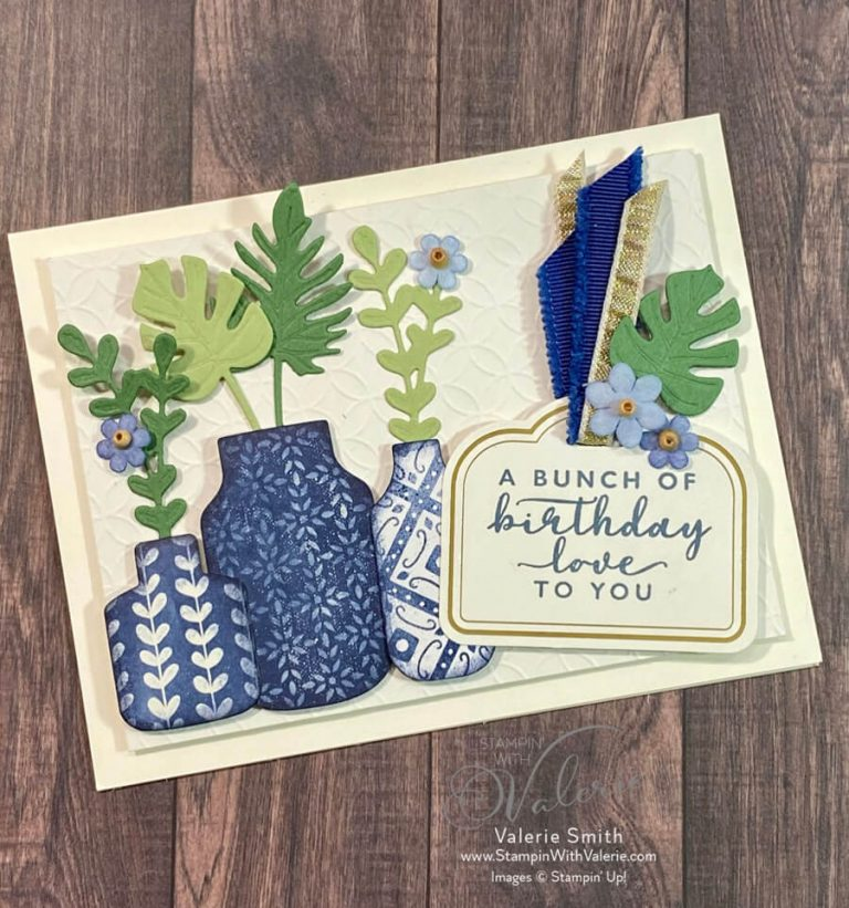 birthday card with vases