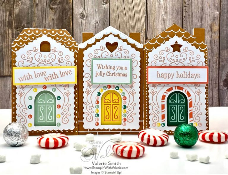 three gingerbread gift card holders